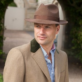 Man Wearing Top Coat& Hat