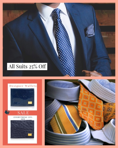 Men Suits, Shirt, and Wallets