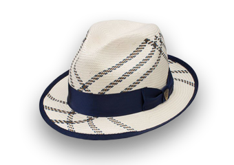 Off-White Hat With Blue Trim