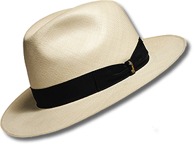 Hat with Brown Band
