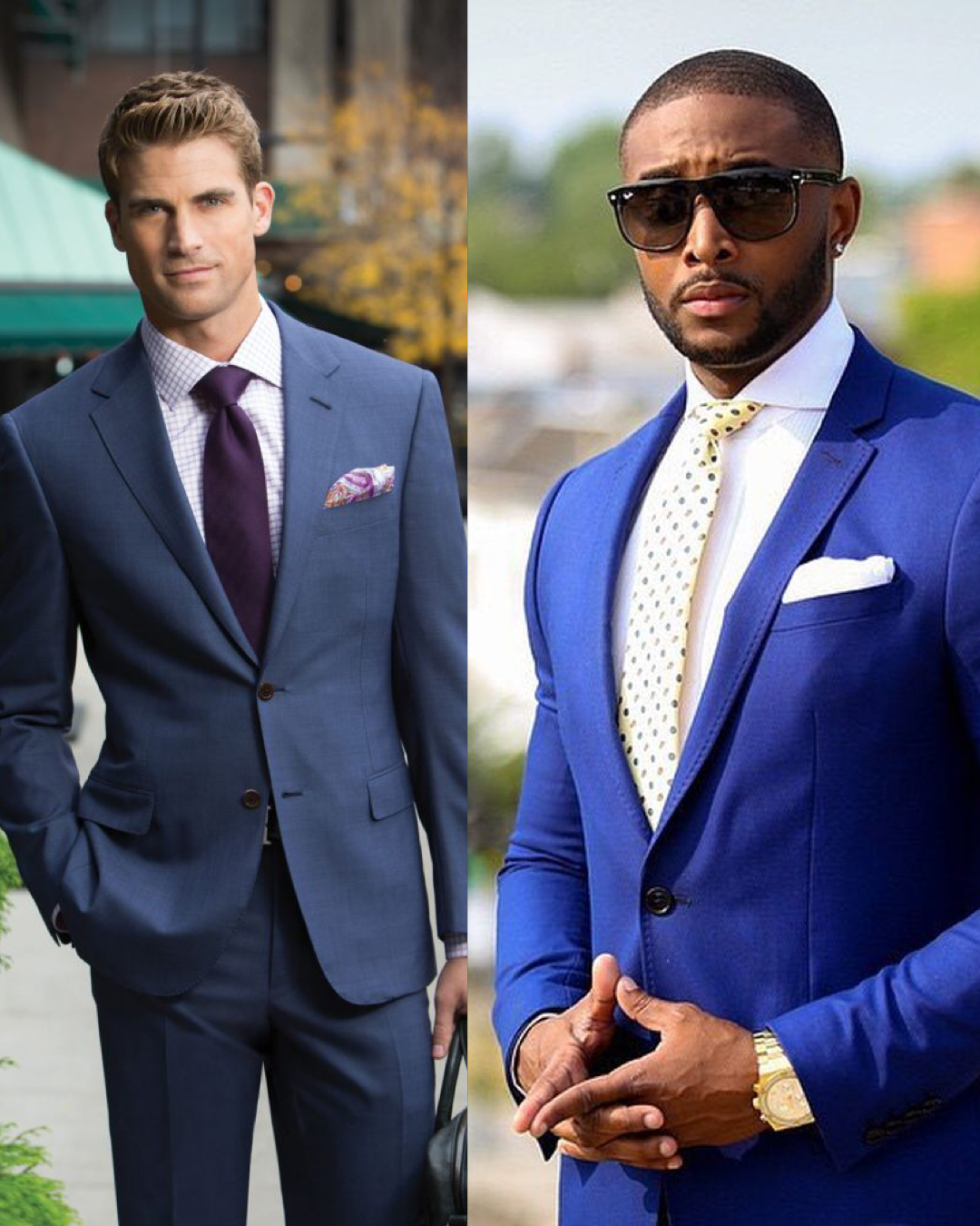 Man in a Gray Suit and Man in a Blue Suit